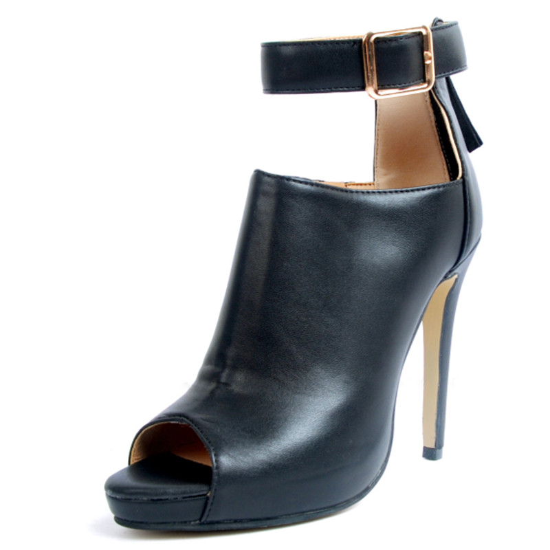 As Peep Noir Toe 2018 Tacon Cheville Stilettos Bottes Picture Mujer Pour Femmes Partie Boucle Roi Ceinture Emma De Solide Botines Mode Zapatos vR4f4w
