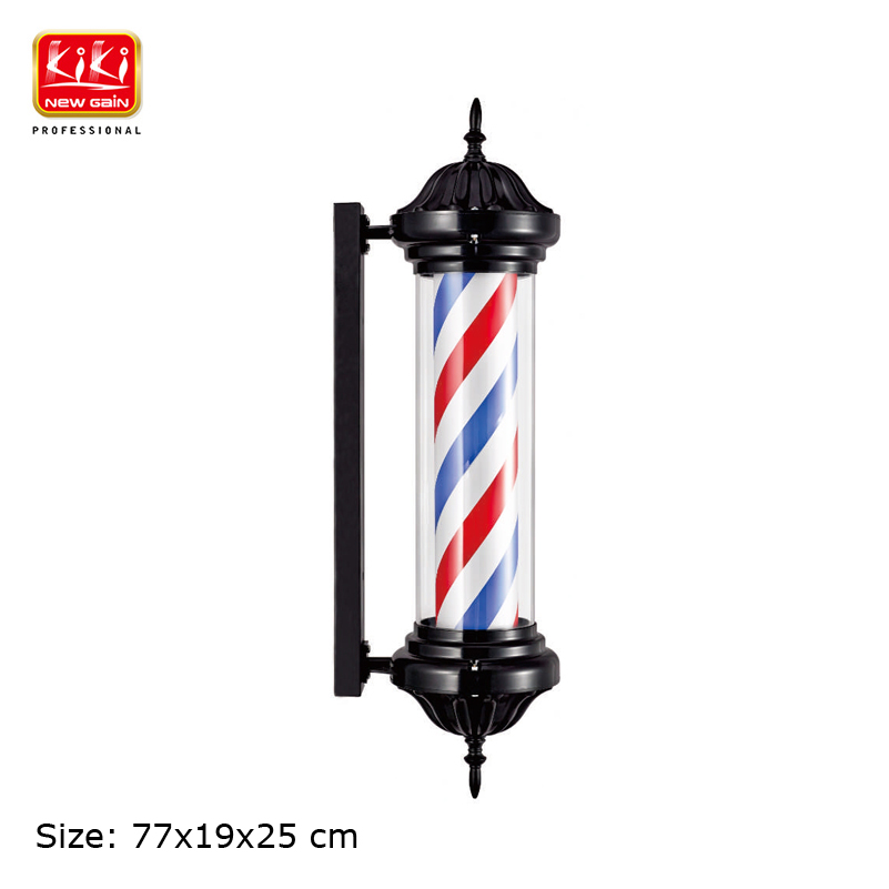 339D Size Roating Barber Pole.Salon Equipment.Barber Sign.Free Shipping.Hot Sell European Style Black Color