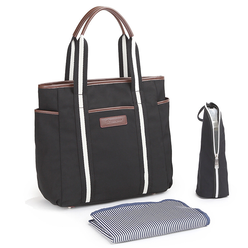 Multi-functional large-capacity mummy bag pregnant women package mother-to-child production package mother bag light diaper bag functional capacity of mango leave extracts