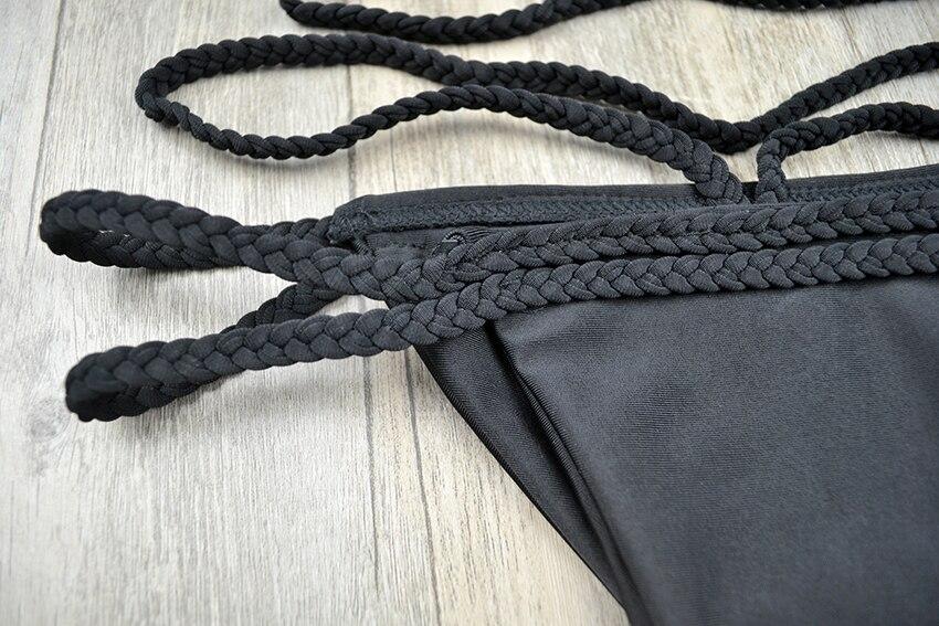 Costume Da Bagno Femminile In Inglese : Sexy corda strappy costumi da bagno delle donne di un pezzo