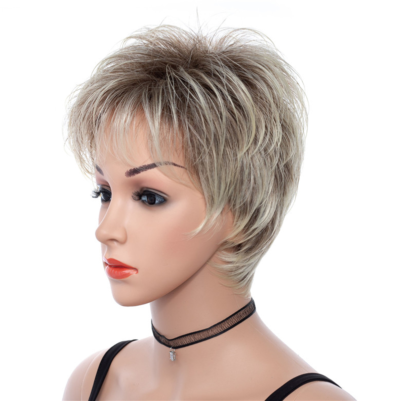Short Synthetic Golden Wave Wig 613 Short Wig For Women
