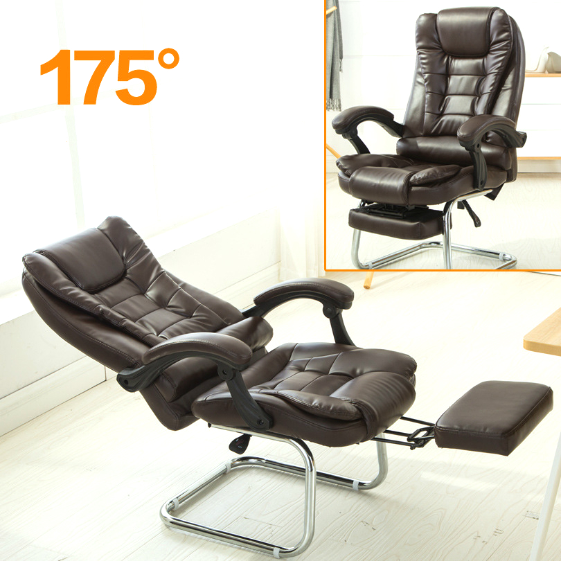 High Quality Computer Chair Office Bow Reclining Chair Household Meeting Boss Armchair Super Soft Special Offer With Footrest 240311 high quality pu leather computer chair stereo thicker cushion household office chair steel handrails