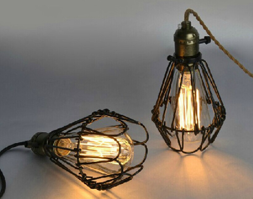Free shipping High quality Indoor hoaxed cage bar pendant lamp Loft Northern Europe american vintage retro pendant light high quality branch shape iron reminisced pendant lamp loft northern europe american vintage retro country pendant light