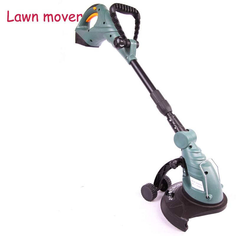 все цены на 18V rechargeable Lawn Mower Lawn Mower Electric Weeding Machine Lawn Mower Height Adjustable Handle Lawn Mover ET2803 онлайн