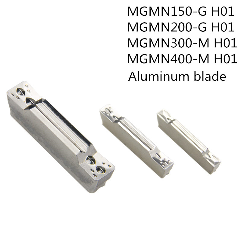 10PCS MGMN150 MGMN200 MGMN300 MGMN400 H01 Carbide Insert Grooving Aluminum Blade Plate Cutter CNC Lathe Tool TurningHolder MGEHR