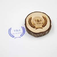 Free Shipping Personalized Wedding Stamp Custom Wood Stamp With Your Initials Date Wedding Invitation Customized Rubber