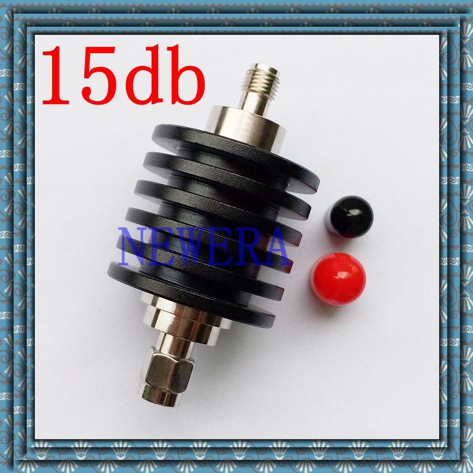 Free Shipping 10W SMA female to male   DC-3GHZ 20db power attenuator 15db
