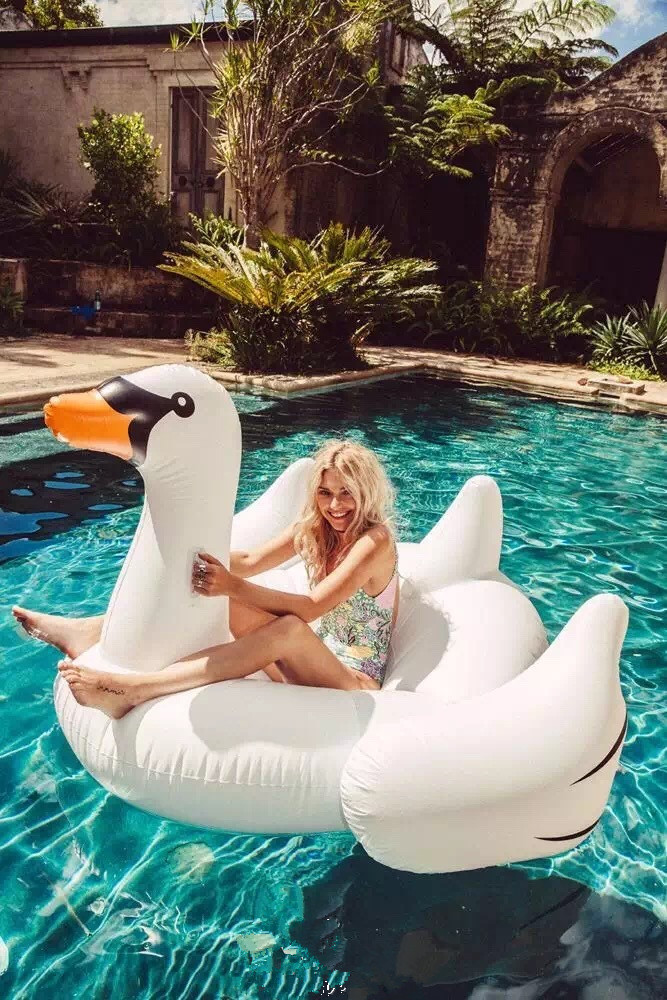 Inflatable flamingos swan weeding floating summer swimming pool party ring adult children interesting water toys yard backyard octopus inflatable water park slide swimming pool with water cannon for kids hot summer dhl free shipping to asia