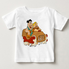 The Flintstones 1 New Hot Sale baby boy girl T Shirt Funny cartoon Cotton Print Summer Fashion kids clothes MJ hot sale 2016 new style letter fashion children boy girl baseball uniform 100% cotton active kids clothes set