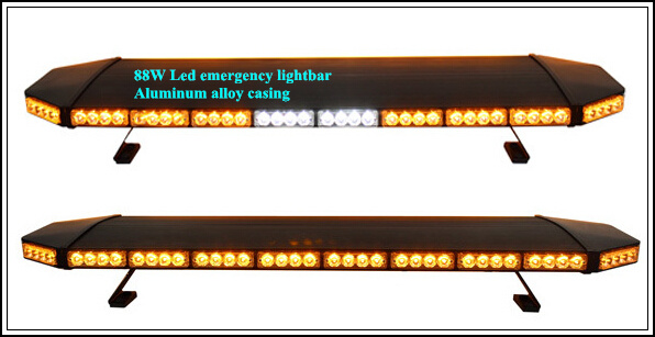 Yüksək ulduz 120cm DC12V 88W amber Led Car xəbərdarlıq lampası, - Avtomobil işıqları - Fotoqrafiya 2