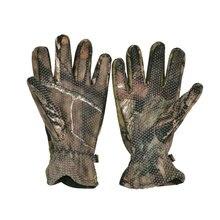 Camo Non-Slip Full Finger Fishing Gloves Winter gloves camo hunting gloves sport gloves