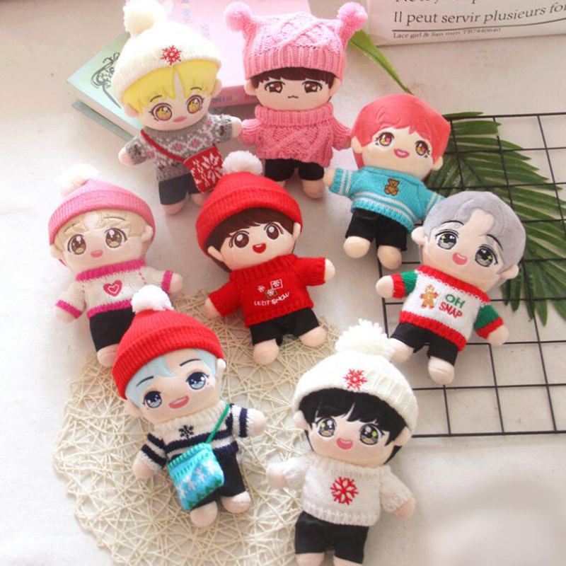 22cm Kpop Doll Plush Toy Boys Doll Stuffed Toy Pillow Superstar Doll Boys Soft Doll Toy Christmas Gift