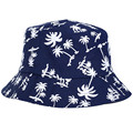 women outdoor fishing sun hat Coconut tree Pattern fisherman panama cap bob chapeau cotton brand summer bucket hat men hip hop