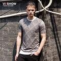 VIISHOW Marca Hip Hop T-Shirt do Projeto Estilo Casual Em Torno Do Pescoço Moda Verão T Camisa Dos Homens do Homme Roupas TD54362