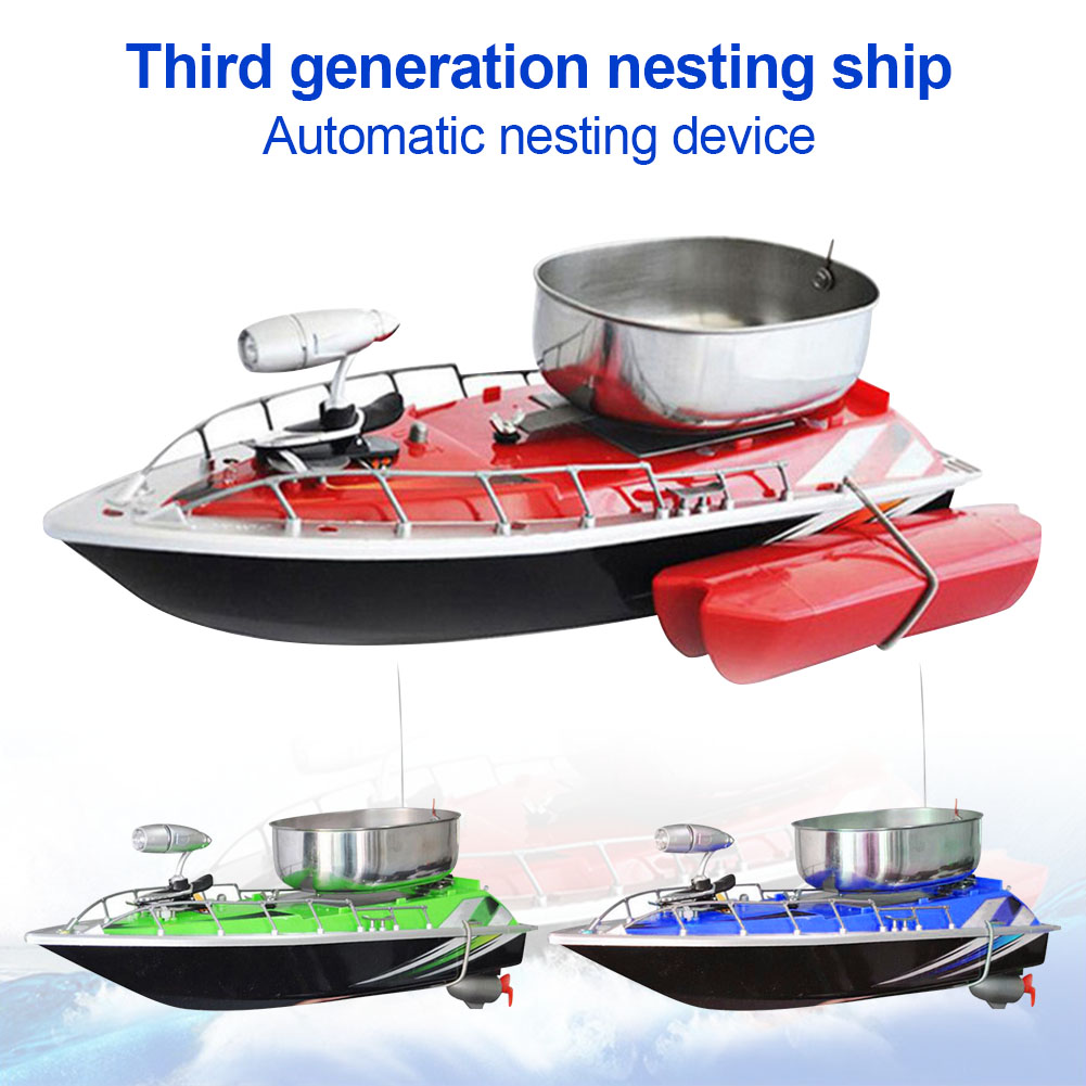 Mini RC Fishing Lure Bait Boat Finding Fish Wireless Remote Control Fish Finder Ship BHD2