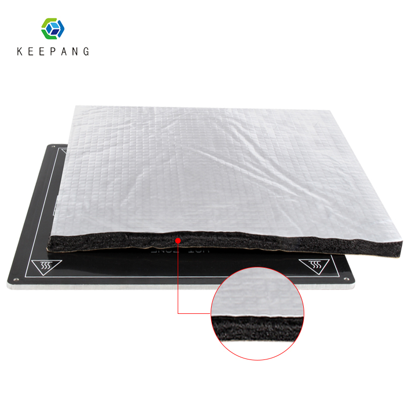 3D Printer Parts Heat Insulation Cotton 200/220/235/310mm Foil Self-adhesive Insulation Cotton 3D Printer Heating Bed Sticker
