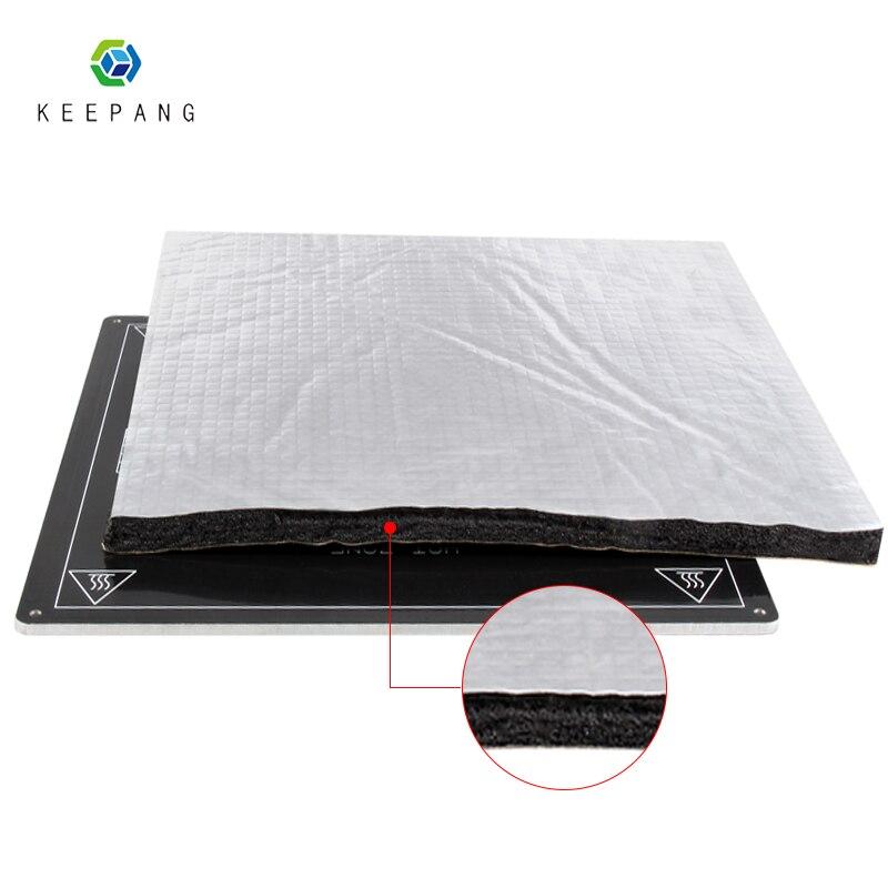 3D parti Della Stampante di Calore Isolamento In Cotone 200/220/235/310mm Foglio di Auto-adesivo Isolante di Cotone 3D di Riscaldamento Della Stampante Bed Sticker