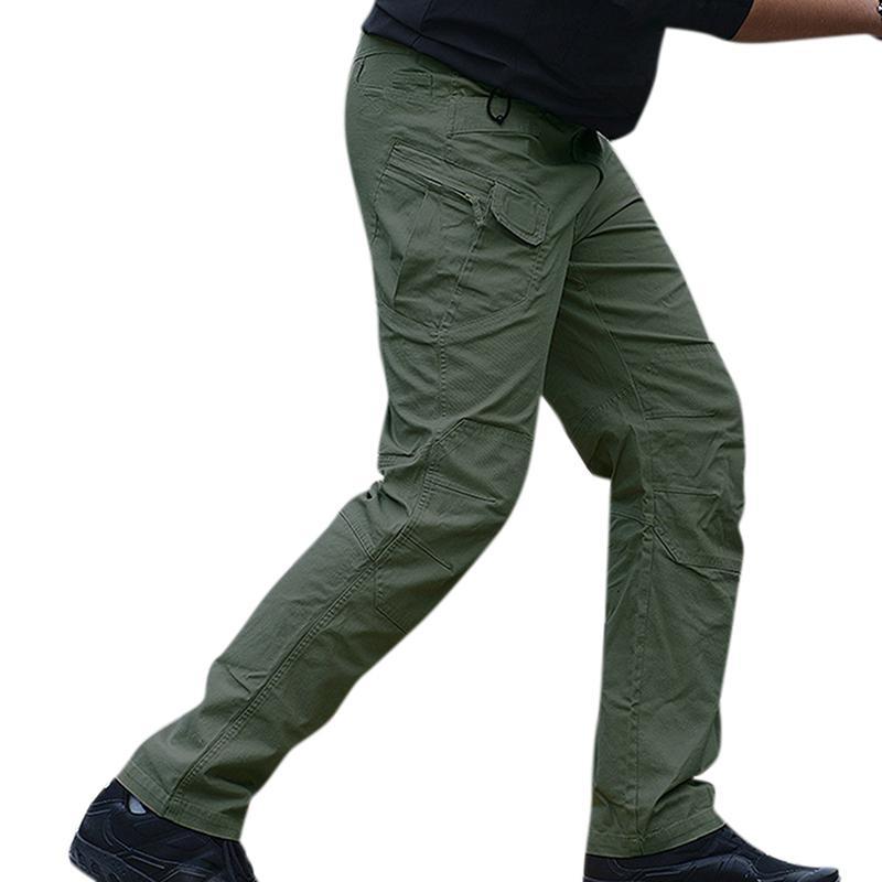 MISSKY mens modis pants Tactical Cargo Pants Men Combat Army Military Pants Stretch Flexible Man streetwear