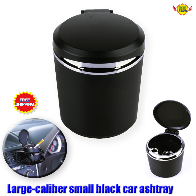Car Accessories Lager-caliber Black Small Ashtray Car-styling