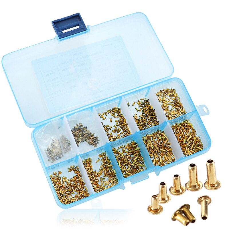 1000pcs Rivet Nut M0.9 M1.3 M1.5 M1.7 PCB Rivet Tubular Rivet Brass Circuit Board Hollow Rivet1000pcs Rivet Nut M0.9 M1.3 M1.5 M1.7 PCB Rivet Tubular Rivet Brass Circuit Board Hollow Rivet