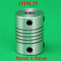 5pcs Flexible Clamp Jaw Shaft Coupling CNC Stepper Motor Coupler Connector 8x8mm