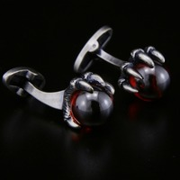 SPARTA Red Zircon Antic Silver Plated Red Dragonball Shirt cufflinks men's Cuff Links + Free Shipping !!! metal buttons