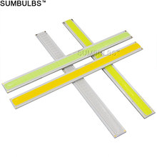 Sumbulbs 170x15MM 6W COB LED Lamp Strip Bulb 12V DC Warm Cold White Blue Lighting 600LM 17CM Bar Lights DIY Table Wall Lamps