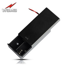 цена на 2-Slot 18650 Battery Charging Box with Cap Clip 7.4V Wire Length 120mm 2 Slots Storage Holder Boxes Case for Toys With Wire Lead