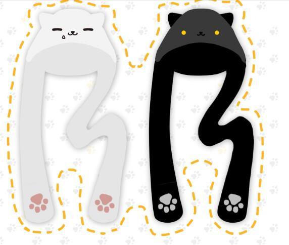 Game Neko Atsume Cute Cat Warm Wool Scarf Hat Gloves Plush New Year Gift