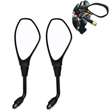 2pcs Motorbike Scooter Motorcycle Side Rear Rearview Mirror 10mm Black Motorcycle Mirror For BMW F650Gs F800Gs F800R 2008-2011