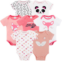 brands new summer 2018 7PCS/lot baby girl roupas de bebe recien nacido baby girl ropa 0 3 6 9  months newborn clothes