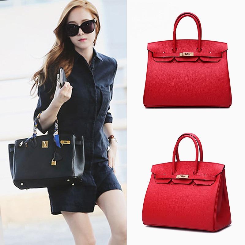 все цены на Genuine Leather Women Bag Luxury Brand Ladies Shoulder Bag Fashion Casual Women HandBags Crossbody Bao Bao Bag Bolsa Feminina