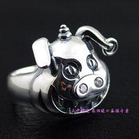 Cartoon pig style thai silver ring