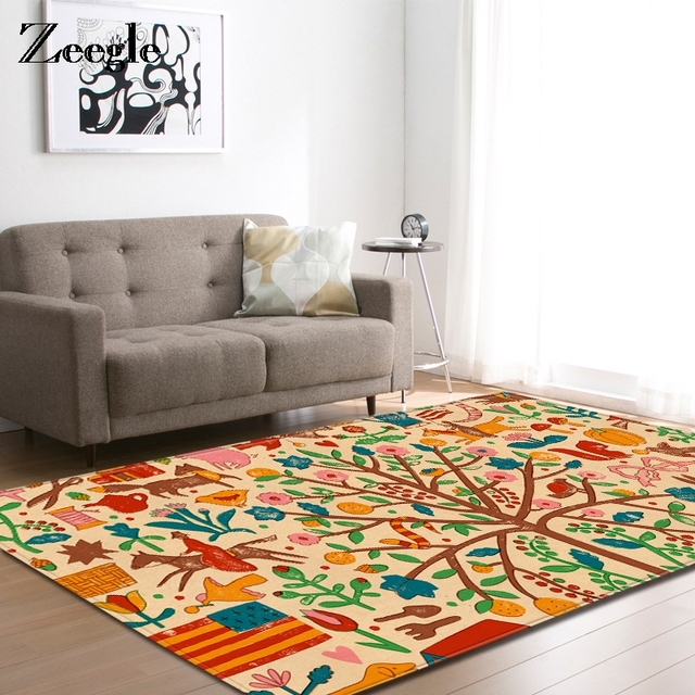 Us 33 02 Zeegle Carpet For Living Room Floor Mat Bedroom Coffee Table Rugs Kids Rug Study Decor Entrance Door In From
