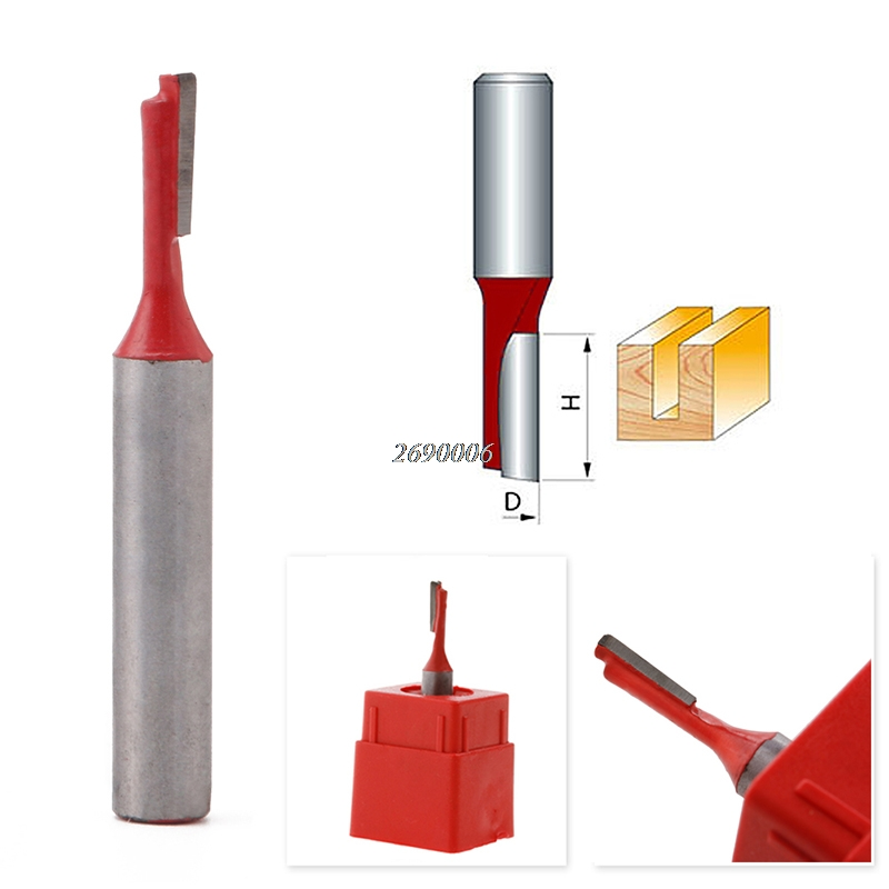 цена на Hot Sell 1/4 Shank 1/8 Blade Carbide Single Flute Tipped Straight Router Bit Cutter New