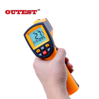 Digital GM900 infrared thermometer non contact infrared thermometer Gun Thermometer 50~900C ( 58~1652F) 0.1~1.00 adjustable