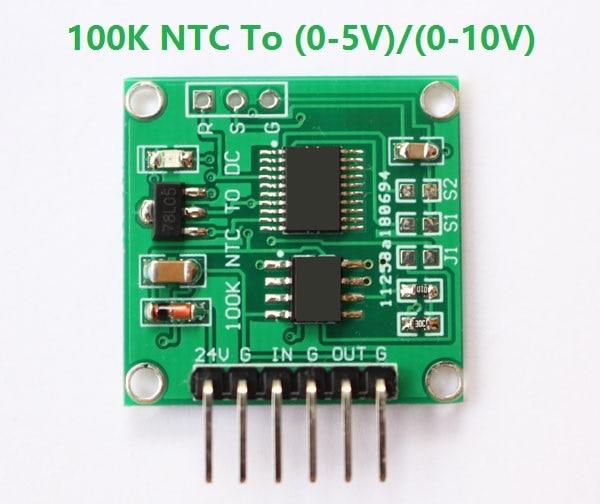 NTC термистора для Напряжение 100 K NTC для 0 5 V 0 10В линейное преобразование Температура модель передатчика