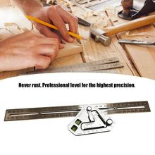 Multi-function Woodworking Triangle Ruler For Speed Square Angle Protractor Measuring Tools Durable Stainless Steel