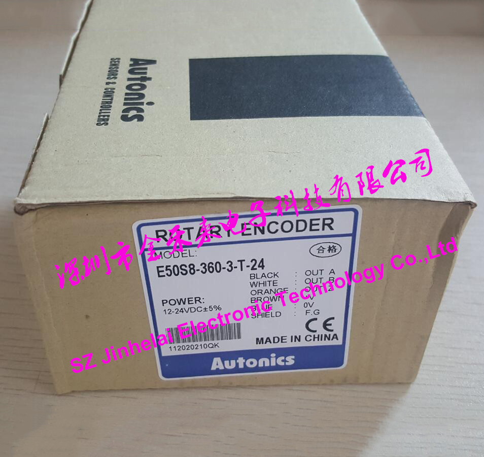 E50S8-360-3-T-24 New and original AUTONICS ENCODER 12-24VDC original new 100% special sales import technology encoder e40h12 360 3 t 24