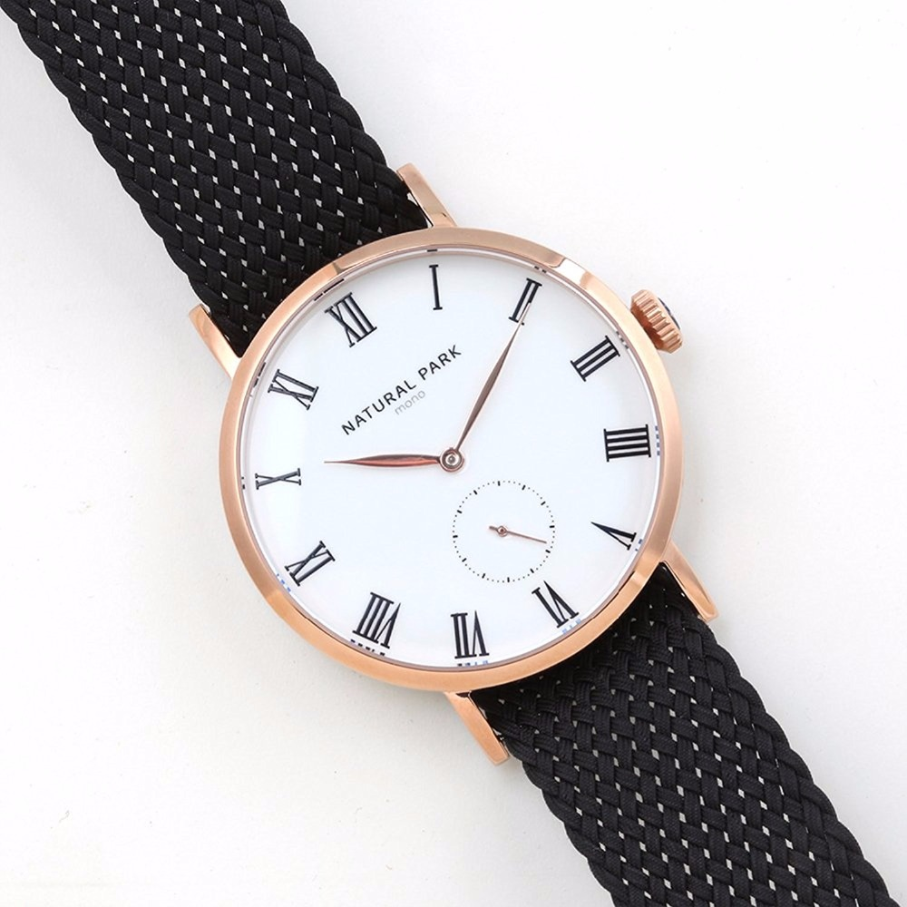 Unisex Waterproof Wrist Watch Japanese Quartz Rose Gold Case Black Nylon  NATURAL PARK Men Watches relogio masculino 3ATM рюкзак case logic 17 3 prevailer black prev217blk mid