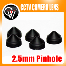 High Quality Metal Pointed cone 2.5mm lens wide angel cctv Security lens cctv CCD/CMOS Camera