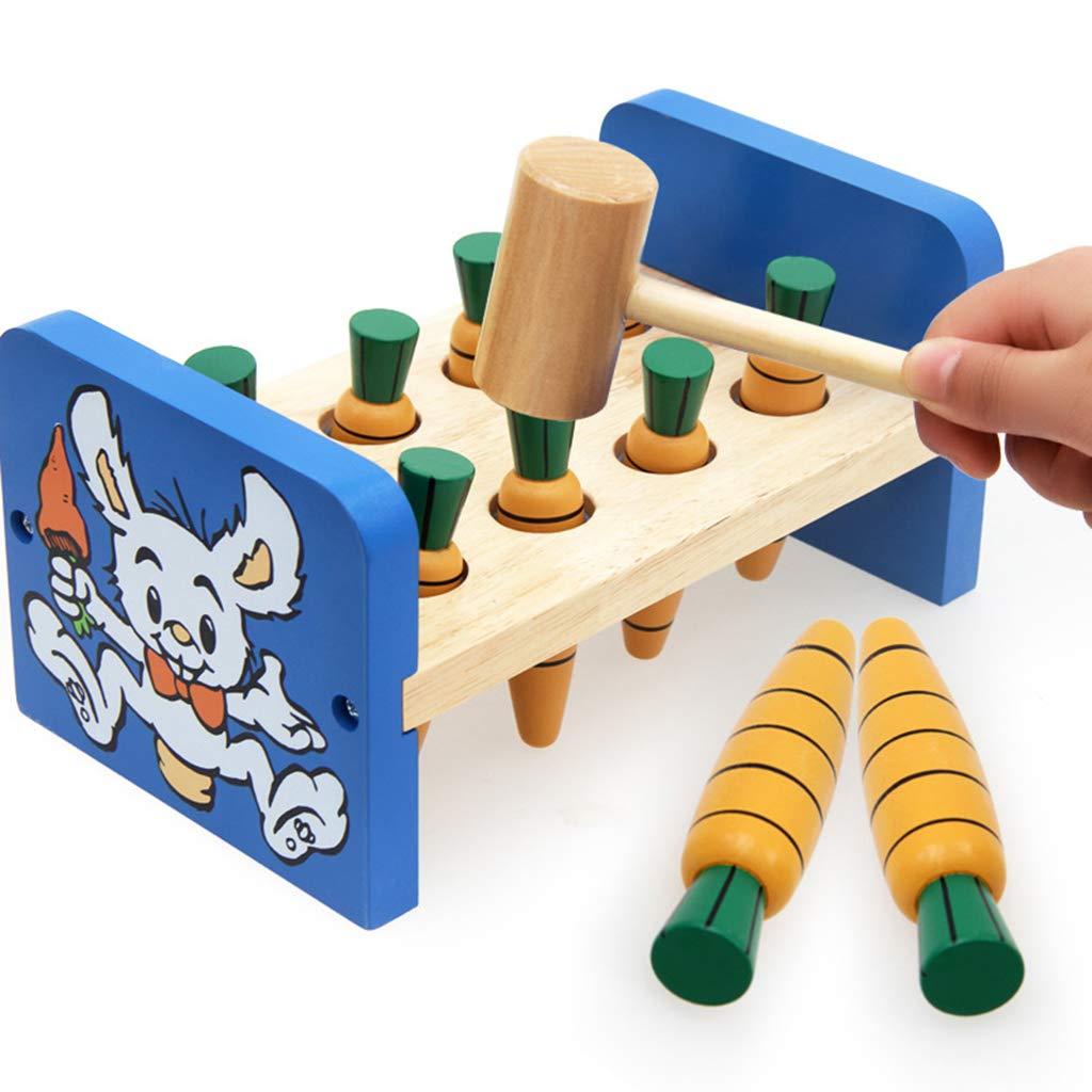 Jouet de martelage en bois Whack un jeu de taupe jouets éducatifs sensoriels d'apprentissage précoce cadeau d'anniversaire pour les enfants en bas âge