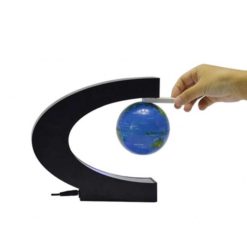 anti-gravidade criativo luz plasma bola azul terra + caixa preta plug eua