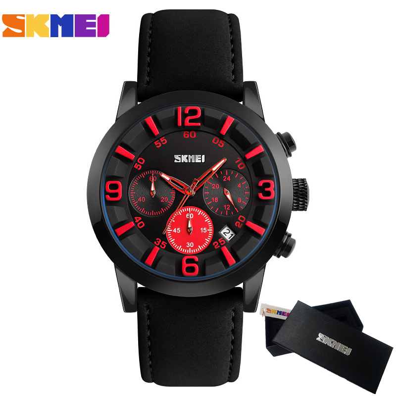 Top Luxury Brand SKMEI Men Watches Men's Quartz Analog Clock Fashion Leather date Clock Man Sports Army Military Wrist Watch skmei 6911 womens automatic watch women fashion leather clock top quality famous china brand waterproof luxury military vintage