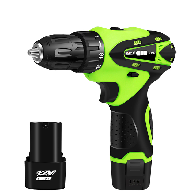 12V Electric Screwdriver Rechargeable Lithium Battery*2 Parafusadeira Furadeira Multi-function Cordless Electric Drill PowerTool