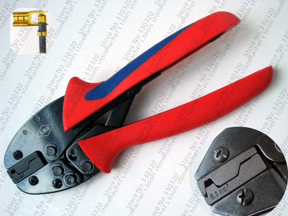 Hand Terminal Crimping Pliers For Flag Type Cable Lug