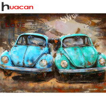 Huacan DIY Diamond Painting Full New Car Square/Round Embroidery Landscape Home Decoration Rhinestones Pictures