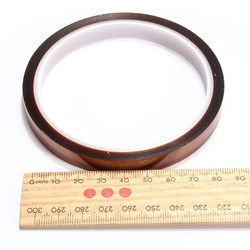 Hot sale 10mm 100ft one side self adhesive high temperature heat resistant polyimide tape for bga.jpg 250x250
