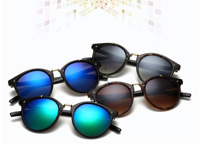 N11 tikri saulės akiniai, vyriški, retro, apvalūs saulės akiniai, - Drabužių priedai - Nuotrauka 2