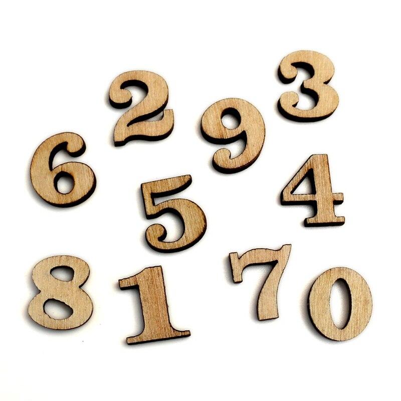 100 個混合番号木材工芸装飾 MDF 木製カットアウト Flatbacks スクラップブッキング cardmaking 用 DIY アート装飾
